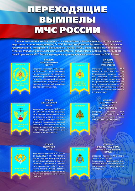 Стенд «Переходящие вымпелы МЧС России»