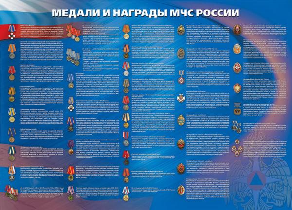 """Стенд """"Медали и награды МЧС России"""""""