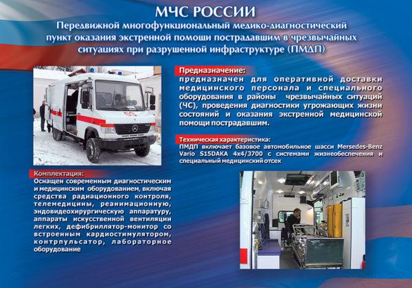 """Стенд """"МЧС России ПМДП"""""""