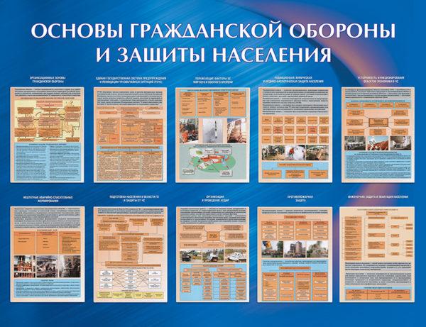 Стенд «Основы ГО и защиты населения»