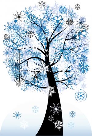"Декорации для актового зала ""Дерево-зима"" 04_0016_1"