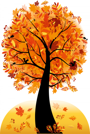 """Декорации для актового зала """"Дерево-осень"""" 04_0016_3"""
