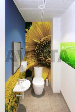 Стеновые панели в с/у с полноцветной печатью